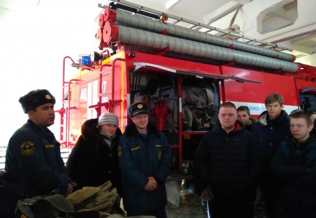 25 января учащиеся 9 класса Кетовской СОШ посетили профориентационную экскурсию в ПСЧ №27 по охране Кетовского района