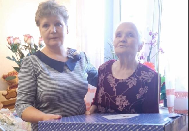17  декабря  исполнилось  90  лет  Анне  Ивановне  Беляевой - вдове  участника  Великой  Отечественной  войны.